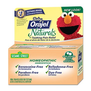 Baby Orajel Naturals Teething Tablets 125-Count