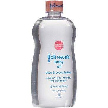 Johnson's Baby Oil, Shea and Cocoa Butter 20oz