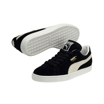 Puma Suede Classic Plus Men's Court Shoe - Black / White
