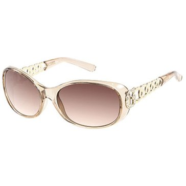 Guess Women's Round Beige Sunglasses