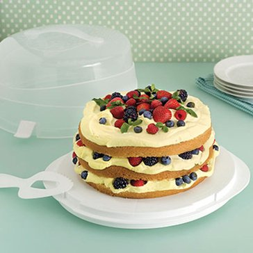 Martha Stewart Collection Round Cake Carrier
