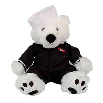 Chelsea Teddy Bear Co USN Scout Bear In Sailor Blues