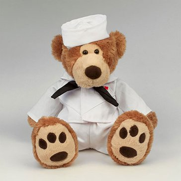 Chelsea Teddy Bear Co USN Lawrence Bear In Sailor Whites