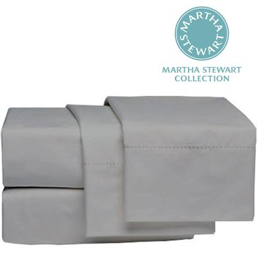 Martha Stewart Collection 300 Thread-Count Sheet Set, Grey - Queen