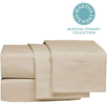 Martha Stewart Collection 300 Thread-Count Sheet Set, Ivory - Queen