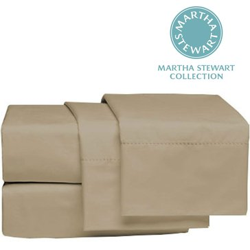 Martha Stewart Collection 300 Thread-Count Pillowcase, Taupe - Standard