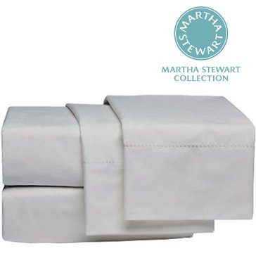 Martha Stewart Collection 300 Thread-Count Sheet Set, White - King
