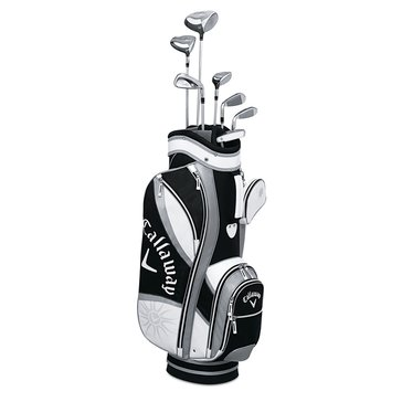 Callaway Solaire Gems Women's 8-Piece Set - Black/Pink, Right Hand (Includes Bag, Clubs & Putter)
