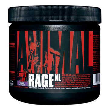 Universal Nutrition Animal Rage Xl, 30 Servings, Grape Of Wrath