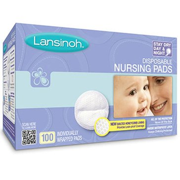 Lansinoh Disposable Nursing Pads, 100-Count