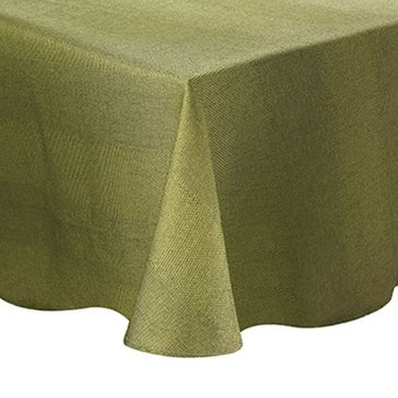Gold Collection Twill 60' Round Tablecloth, Sage