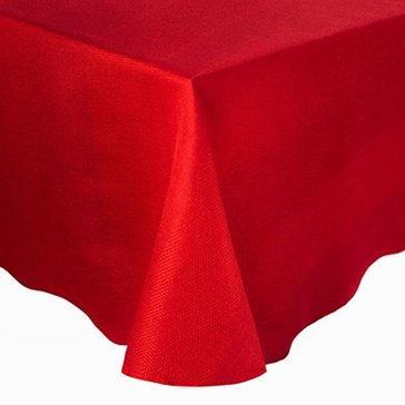 Gold Collection Twill 60' Round Tablecloth, Red