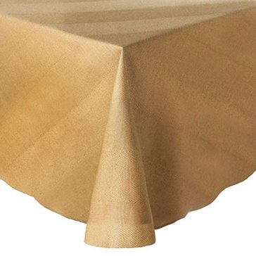 Gold Collection Twill 60' Round Tablecloth, Tan