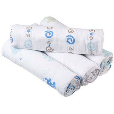 Aden + Anais Classic Muslin Swaddling Blankets, Jungle Jive, 4-Pack
