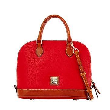 Dooney & Bourke Pebble Zip Zip Satchel - Red