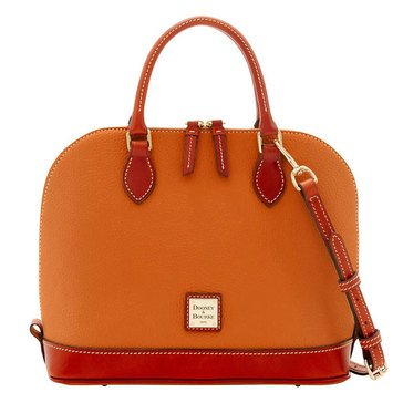 Dooney & Bourke Pebble Zip Zip Satchel Caramel