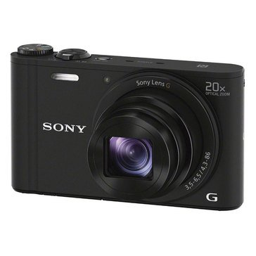 Sony Cybershot DSCWX350/B 18 MP Digital Camera with WiFi and NFC - Black