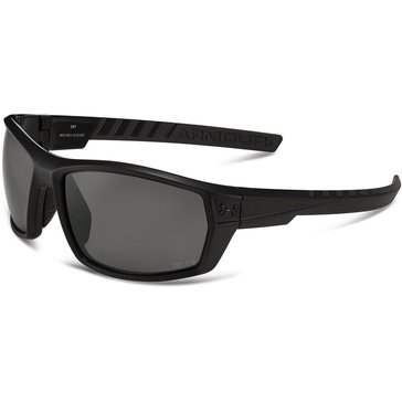 Under Armour Men's Ranger Rectangle Satin Black Frame Sunglasses 56mm