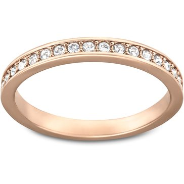 Swarovski Rare Crystal Rose Gold-Plated Ring,, Size 8