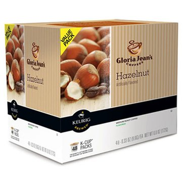 Gloria Jean's Coffee Hazelnut K-Cup Pods, 48-Count