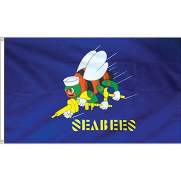 Eder 3'x5' Flag USN Seabees Endura-Poly Outdoor Flag