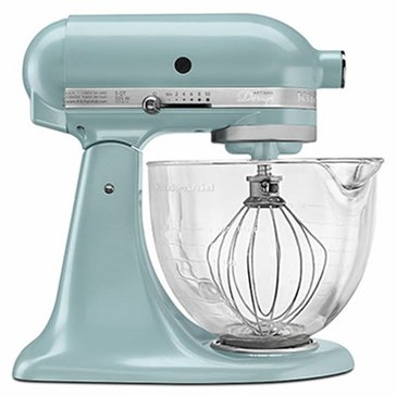 KitchenAid Artisan Design Series 5-Quart Stand Mixer with Glass Bowl - Azure Blue (KSM155GBAZ)