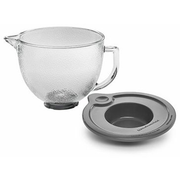 KitchenAid 5-Quart Hammered Glass Bowl With Lid For Tilt-Head Stand Mixer (K5GBH)