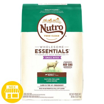 Nutro Choice Lamb & Rice Small Bites Dry Dog Food, 30 lbs.