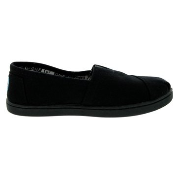 Toms Apra Girls' Canvas Slip On Black