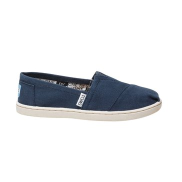 Toms Alpra Girls' Canvas Slip On Navy