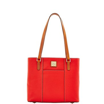 Dooney & Bourke Pebble Small Lexington Shopper Tote Red