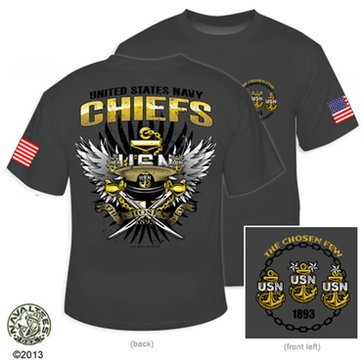 NavalTees Men's USN The Chosen Few 2013 CPO Tee
