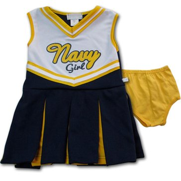 Third Street Sportswear Toddler Girls' USN 1Pc Cheer Dress with Bottoms