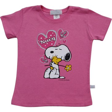 Third Street Toddler Girl's USN Snoopy Heart Tee