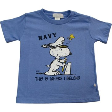 Third Street Toddler Boys' USN Captain Snoopy Tee