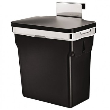 simplehuman In-Cabinet Black Waste Can