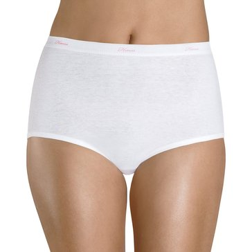 Hanes Women's 8 Pack Cotton Brief - White Size 8
