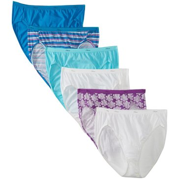 Hanes Women's 8 Pack Cotton Hicut - Asst. Size 6