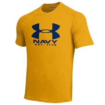 Under Armour Men's USN Big Shield Short Sleeve Tech Tee