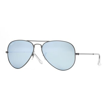 Ray-Ban Unisex Aviator Classic Sunglasses RB3025, Matte Gunmetal/ Silver Mirror 58mm