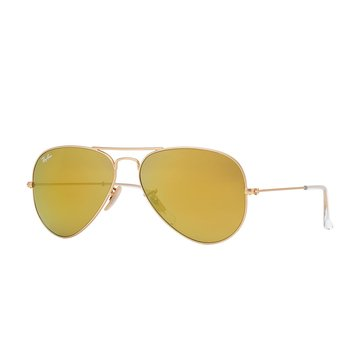 Ray-Ban Unisex Aviator Classic Sunglasses RB3025, Gold/ Mirror 58mm