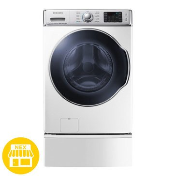 Samsung 5.6-Cu.Ft. Front Load Washer with SuperSpeed, White (WF56H9100AW)