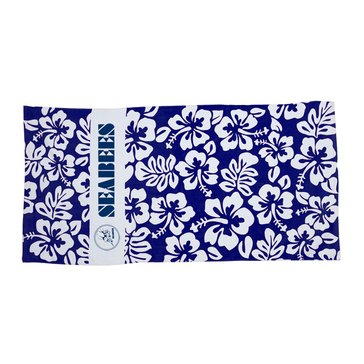 Storm Duds USN Hibiscus Rugby Beach Towel, Navy