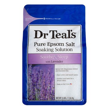 Dr. Teal's Soothe & Sleep Epsom Salt Soak with Lavender, 3lbs