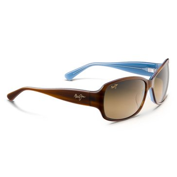 Maui Jim Women's Nalani Polarized Sunglasses HS295-03T, Toroise with Blue Interior/ HCL Bronze 61mm