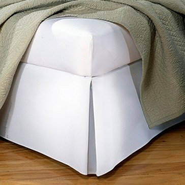 Tailored Bed skirt, White - Twin