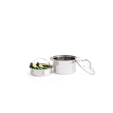 Tools Of The Trade 4-Quart Soup Pot W/ Steamer Insert