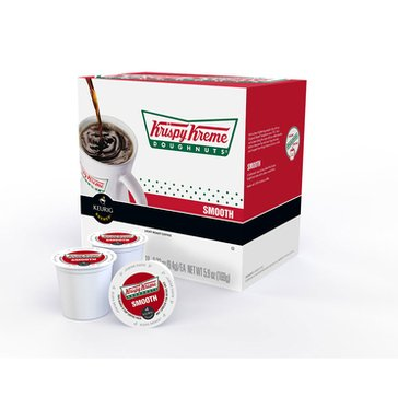 Krispy Kreme Doughnuts Coffee Smooth K-Cup Pods, 18-Count