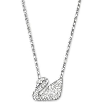 Swarovski Swan Necklace, White, Rhodium Plating