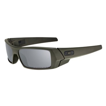Oakley Standard Issue Men's Gascan Polarized Sunglasses, Cerakote Mil-Spec Green/Black Iridium